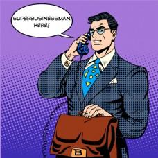 打电话的卡通超人图片