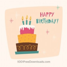生日蛋糕生日卡