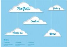 免费矢量云网页设计