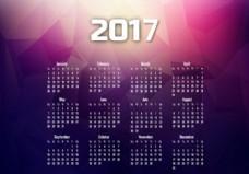 2017年日历,月份和日期