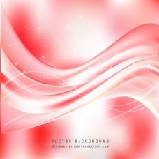 浅红色波浪背景设计