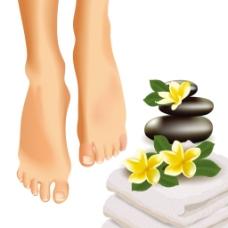 做SAP水疗的双脚图案