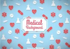 医学的蓝色背景