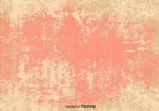 矢量垃圾粉色/米色背景