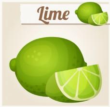 切开的绿色水果图片