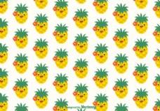免费的菠萝面矢量模式