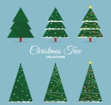 扁平圣诞树