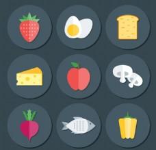 扁平食物素材
