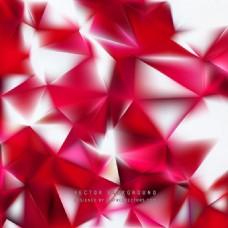 红白多边形背景设计
