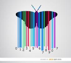蝴蝶彩色条码