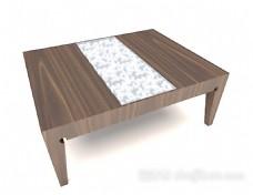 木质花纹茶几3d模型下载