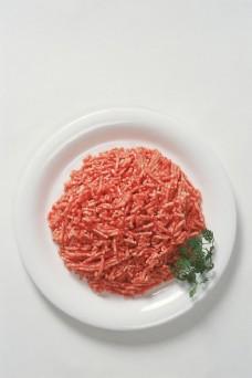 一盘肉馅图片