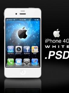 白色苹果iphone4g手机