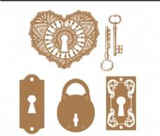 古代锁具 钥匙
