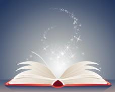 发光的魔法书矢量素材
