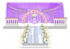 紫色婚礼主舞台
