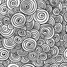 黑白旋转抽象背景图片