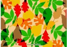 秋天的树叶矢量纹理