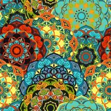 艳玉花形花纹图案图片