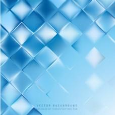 蓝色几何正方形背景