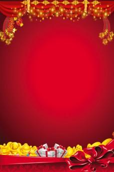 红色背景图片唯美