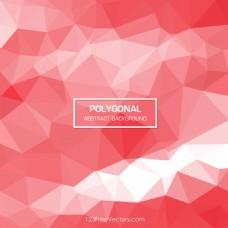 浅红色多边形三角背景图像