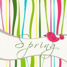 鸟类春季背景设计