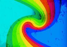 自由矢量彩色波背景
