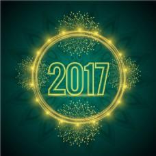 2017带光源的绿色背景
