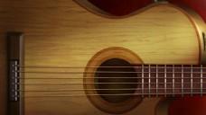 吉它乐器背景PSD分层素材图片