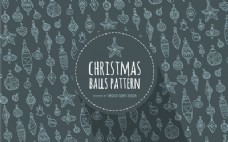 圣诞饰品概述图案背景
