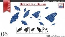 简单彩蝶、蝴蝶素材PS笔刷下载
