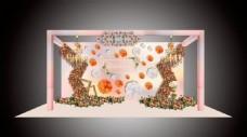 婚礼 粉色 欧式 香槟色 效果图