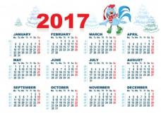 公鸡2017年日历图片