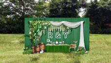 森系户外婚礼展示区