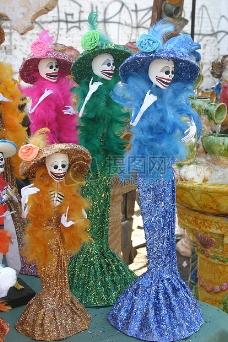 墨西哥民俗庆典的玩偶