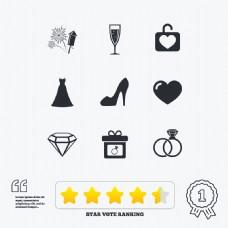 婚礼珠宝首饰图标模板下载