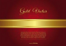 优雅的金黄色和红色的背景说明