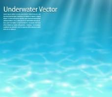 现实蓝色水下背景