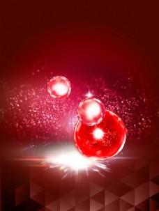 唯美红色背景图片
