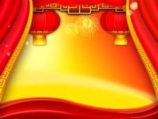 红色背景图片灯笼