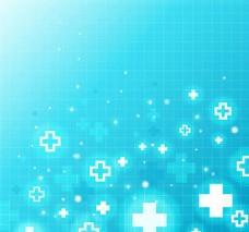 蓝色医疗符号背景