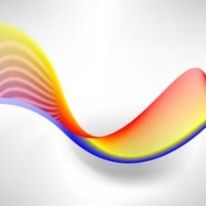 丰富多彩的矢量线或波流在浅灰色的背景图