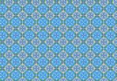 蓝色花叶花型