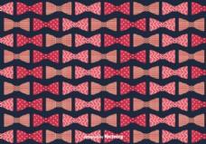弓领带背景矢量