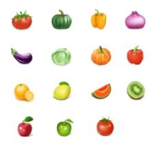 绿色蔬菜图标素材