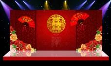 《中式舞台背景》