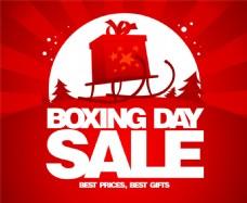 红色礼物盒热卖海报图片
