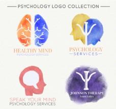 几个水彩心理诊所标志