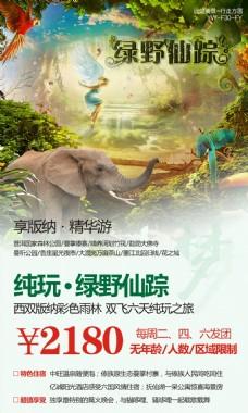 云南西双版纳旅游广告